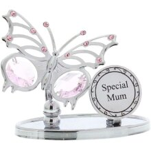 Special Mum Butterfly with Swarovski crystal Element Gift Mummy Mom