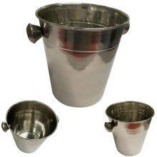 Stainless Steel Ice Cube Party Bucket Wine Beer Cooler Chilled Drinks