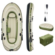 Bestway Hydro Force Inflatable Boat Voyager 500 Fishing Rowing Boat Raft Canoe