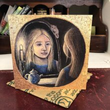 Through the Looking Glass greetings card by Hannah Willow