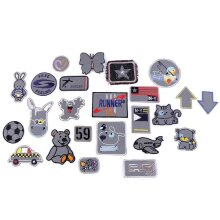 10pc Ix Of Patterns Iron On Patch - Mix Of Reflective Designs And Sizes, Iron-on Patchesand Sew-on Patches, Sew-on, Haberdashery