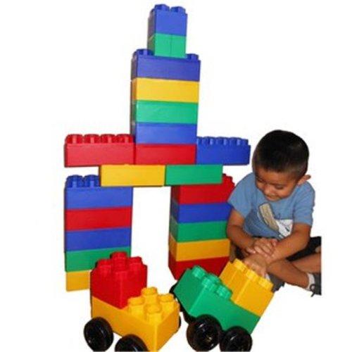 40pc Jumbo Blocks with Wheels Big City Play Set