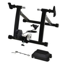 HOMCOM Magnetic Indoor Speed Bike Kinetic Trainer w/ 5 Level Resistance, Black