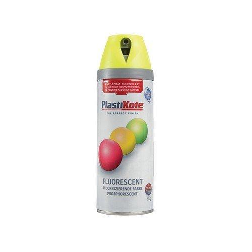Plasti-Kote PKT1901 Twist & Spray Fluorescent Yellow 400ml