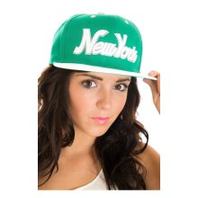 New York Snap Back Cap In Green