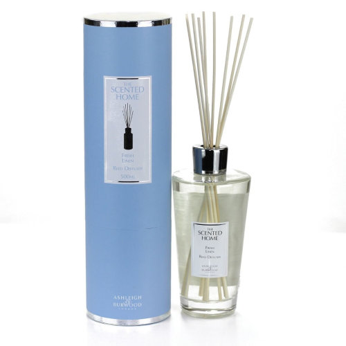 Ashleigh & Burwood Scented Home 500ml Reed Diffuser Gift Set Fresh Linen