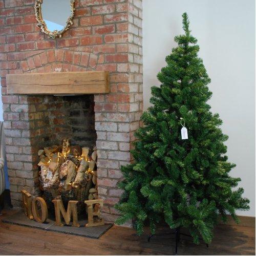 6ft (180cm) Samuel Alexander Luxury Green Christmas Tree 525 Tips 115cm Wide