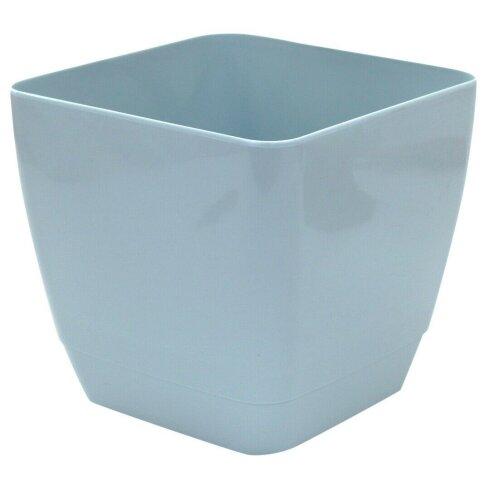 Indoor / Outdoor Square Medium Plant Pots 18cm Planters Blue