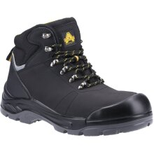 Amblers Safety: Black AS252 Lightweight Water Resistant Leather Safety Boot 10.5