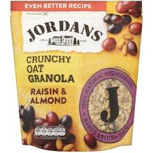 Jordans Crunchy Oat Granola Raisin and Almond, 750 g, Pack of 4