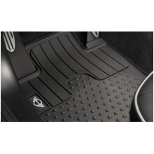 MINI Genuine Logo All Weather Rubber Floor Mats Front Set 51472243913