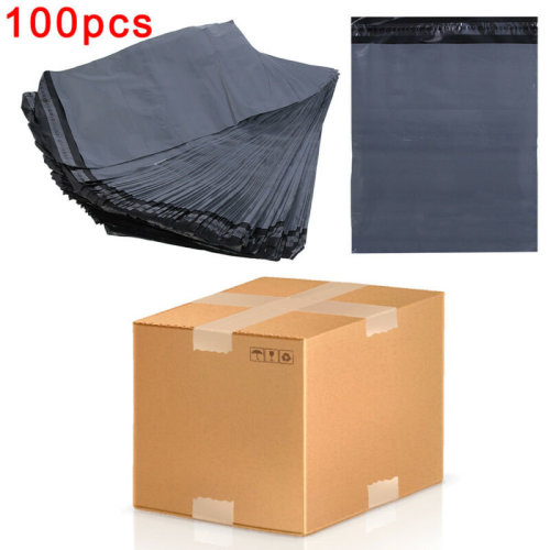 """12/"""" x 16/"""" STRONG POLY MAILING POSTAGE POSTAL QUALITY SELF SEAL GREY 100 BAGS"""