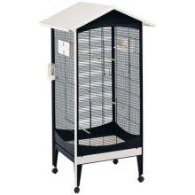 birdcage Brio Medium 85 x 162 cm steel black/white