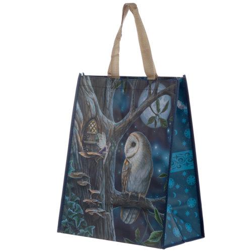 Fairy Tales Owl and Fairy Lisa Parker Reusable Shopping Bag