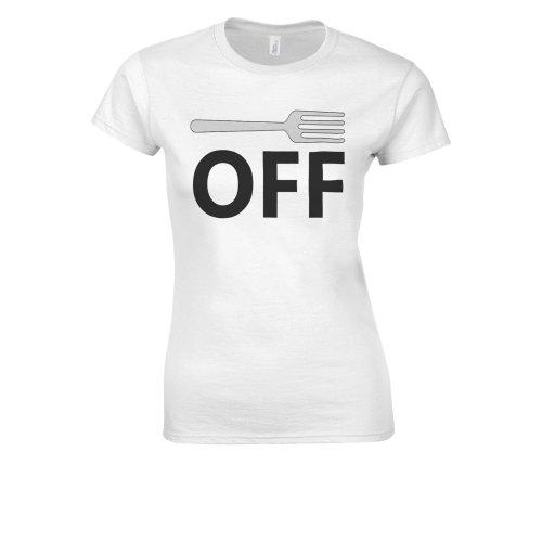 Fork Off Mens Novelty Funny Rode Novelty Forest White Women T Shirt Top