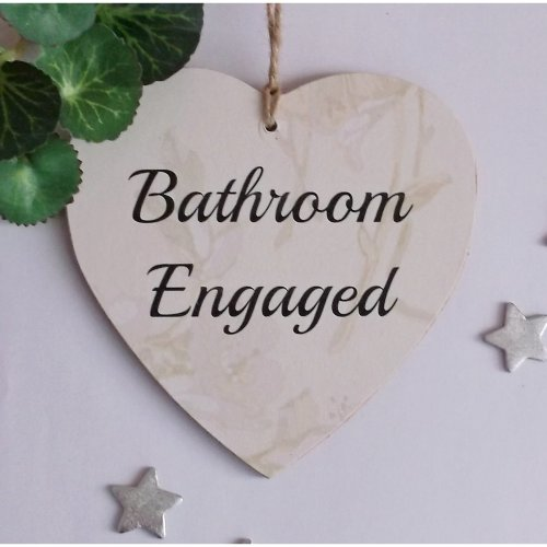 Bathroom Engaged/Vacant Double-Sided Wooden Plaque | Toilet Engaged Sign