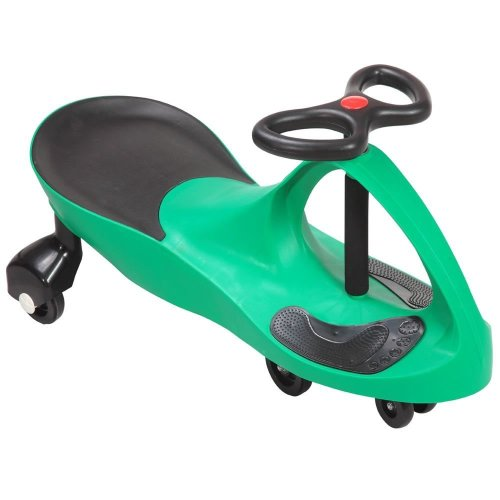 GREEN SWING CAR RIDE ON SWIVEL SCOOTER CHILDRENS TOY WIGGLE GYRO TWIST & GO GIFT