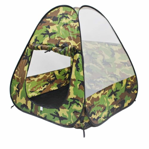 deAO Foldable Playhouse Tent for Kids with Camouflage Design Great Indoor Outdoor Gift for Girls Boys 3 4 5 Years Old