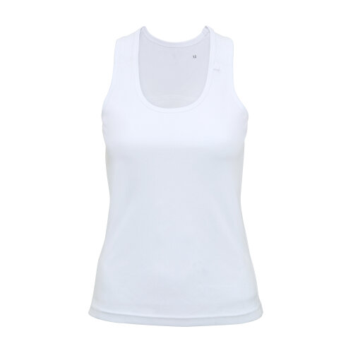 (White, L) TriDri Womens Panelled Fitness Gym Running Sports Fitness Workout Vest Top Tee