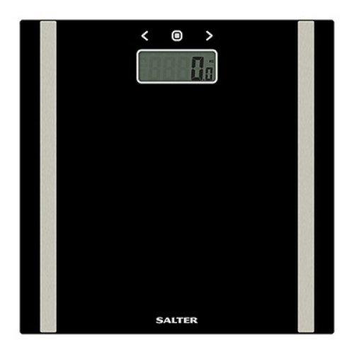 Salter Ultra Slim Black Glass Electronic Analyser Bathroom Scales 9157
