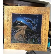 Full Moon Dance greetings card by Hannah Willow