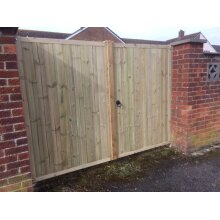Wooden Driveway Gates, Entrance Gates Pressure Treated 6ft - UP TO 8 WEEK WAIT
