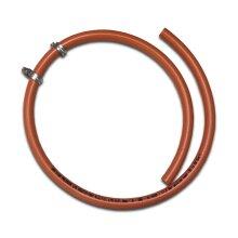 LPG 8mm Gas Hose - 2 metre - Propane Butane for BBQ Camping Caravan Motorhome + 2 Clips