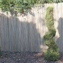 Bamboo Slat Garden Divider Screening Border Outdoor Fencing Panels 4M Long Rolls