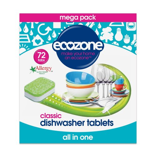 Ecozone All In One Dishwasher Tablets Classic, 72 Tablets