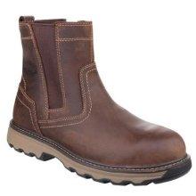 Caterpillar Unisex Pelton Safety Leather Boots