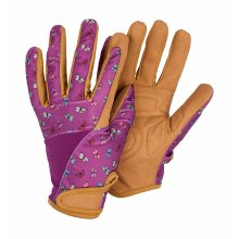 Women's Gardening Gloves Butterfly Patterned Breathable Fabric Medium