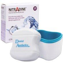 Nitradine & Bath ~ 20 Cleaning Tablets ~ 10wk Supply Dental Appliance Storage