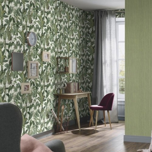 Erismann Paradiso Tropical Leaves Pattern Wallpaper Jungle Leaf Forest Textured 6303-07