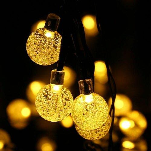 (50 leds) Solar Garden Lights LED Retro Bulb StringOutdoor