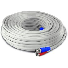 Swann HD Video & Power 50 ft/15 m BNC Security Camera Cable, White