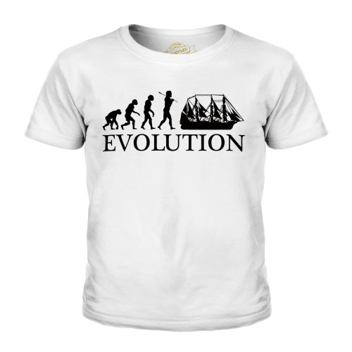 (White, 3-4 Years) Candymix - Argosy Evolution Of Man - Unisex Kid's T-Shirt