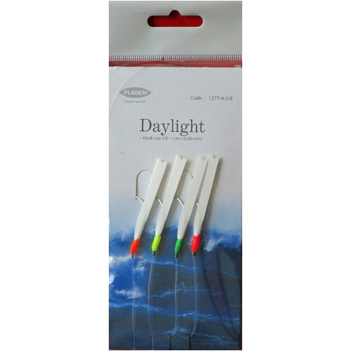 6 Pks Daylight Fishing Mackerel Feathers Rigs Traces 2/0 Lures Sea