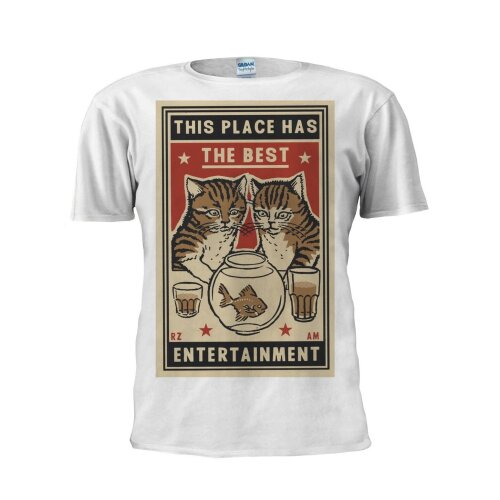 (Medium, White) Cat T Shirt This Place Has The Best T Shirt Funny T Shirt Trendy T Shirt