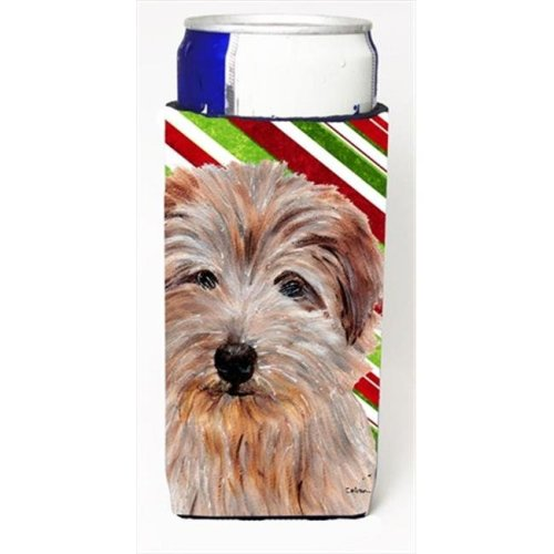Norfolk Terrier Candy Cane Christmas Michelob Ultra bottle sleeves Slim Cans  12 Oz.