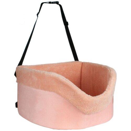 Soft Pet Car Booster Seat Cat Dog Puppy Car Carrier Safe Travel Bag Comfy Fleece