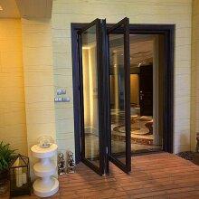 Hench China wooden Aluminum doors windows  bi-folding hc-a17