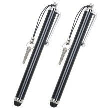2pk Trixies Universally Compatible Touch Screen Black Stylus Pens