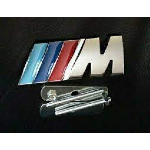 """BMW M Tech Sport Front Grill Badge Carbon Chrome Alloy """