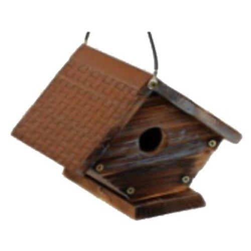 True Value 208965 Rustic Wren Bird House with Metal Roof