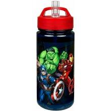 Scooli Avengers Aero Plastic Bottle With Integrated Straw &Drinking Nozzle 500ML