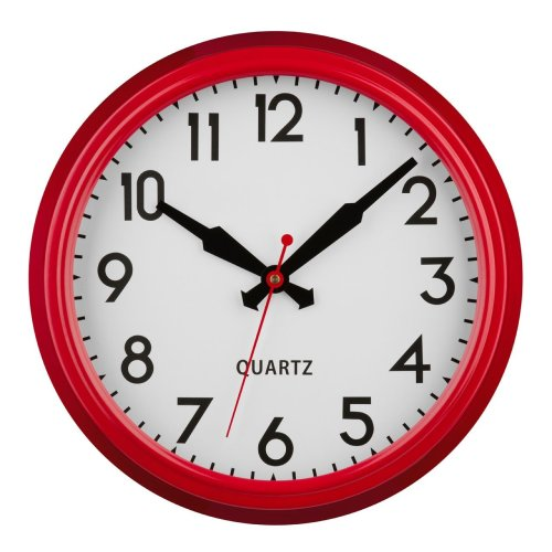 Chic Red Wall Clock, Metal -2200664