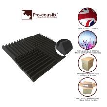 24x Pro-coustix Ultraflex Wedge Studio Sound Proofing Acoustic Foam Tiles 24 panels
