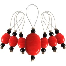 KNIT PRO Zooni: Bead Stitch Markers: Tangerine
