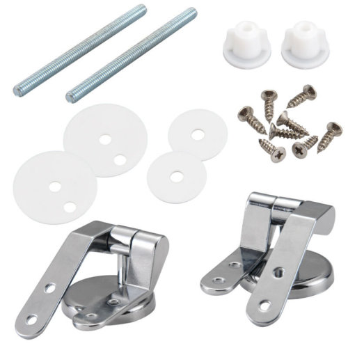 Pair of Toilet Chrome Hinges Fittings Toilet Seat Replacement