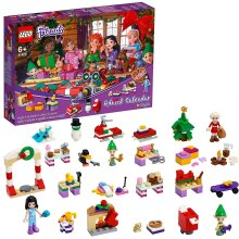 LEGO 41420 Friends Advent Calendar 2020 Christmas Mini Builds Set with Emma, Elves & Santa Workshop